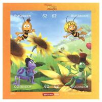 Austria 2014 Maya The Bee Animation Mini Sheet of 4 Stamps Self-adhesive MUH