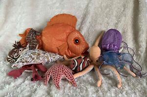 Folkmanis Finger & Hand Puppet Sea Life Lot Of 8 Jellyfish Crab Shrimp Starfish