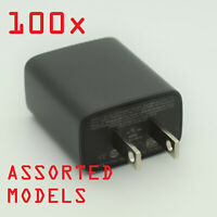 100x 1A USB AC Power Adapter Wall Charger Assorted LOT BULK Universal