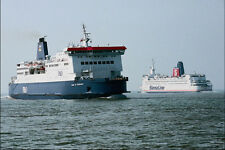 796079 P  O European Ferries Pride Of Burgundy Passing Stena Line Outside Calais
