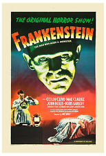 Universal Horror: * Frankenstein *  Classic Horror Movie Poster re-release 1947