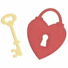 "Quickutz/Lifestyle Crafts KS-0790  ""Key to My Heart""  2 Cutting  Dies  NEW"