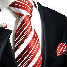 Krawatten Set 3tg rot Seidenkrawatten Paul Malone 445