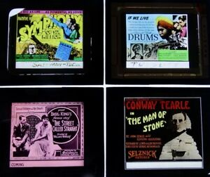 Four Early Glass Movie Slides (Group 11)