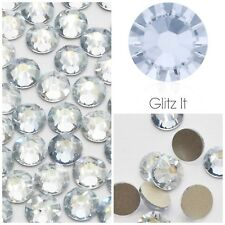 Swarovski x 50 MIXED SIZE Blue Shade Grey GLUE ON Crystals Rhinestones Nail Art
