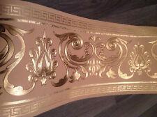 wunderschöne Barock Bordüre CARMEL,Gold ,VERSAC 5m lang 17,7 cm breit