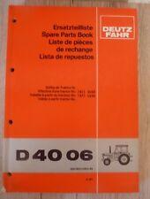 Original Ersatzteilliste Deutz Traktor D 4006