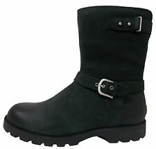 UGG® AUSTRALIA GRANDLE BLACK LEATHER BIKER BOOTS UK 5.5 EUR 38 USA 7 RRP £250