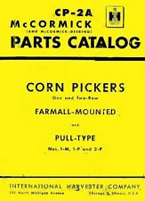 International McCormick Farmall 1-M 1-P 2-P 1M 1P 2P Corn Picker Parts Manual