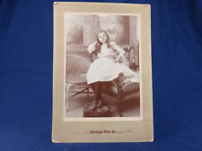 Michigan Photo Co. Antique Portrait SASSY Young Girl Ringlets Lots of Attitude