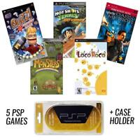 PSP MEGA 5 Game Bundle with Free UMD Case Holder - Holiday Special - NEW!