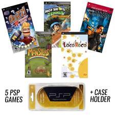 PSP MEGA 5 Game Bundle with Free UMD Case Holder - Holiday Special - NEW!