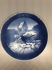 Royal Copenhagen Kai Lange Blackbird At Christmas Time 1966 Plate