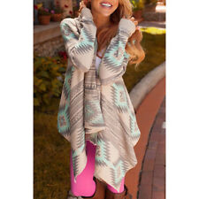 Lady/Women Long Cardigan Loose Sweater Sleeve Knitted Outwear Jacket Coat Tops