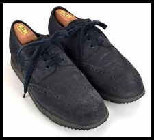 PRADA 4E2604 Blue Gray Suede Wingtip Casual Shoes Sneakers RARE - UK 9.5 / US 10