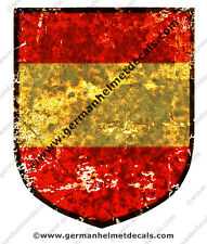 Pre aged Spanish Blue Division WW2 decal for M35, M40 and M42 German WWII helmet