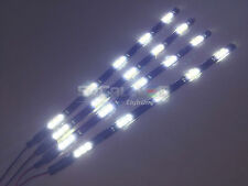 "4pcs 30cm/12"" LED Flexible Strips High Power 15-SMD 5050 Waterproof Cuttable 12V"