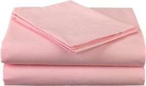 1000 Thread Count Egyptian Cotton 3 PC Duvet Set UK King Size Pink Solid Color