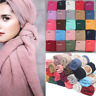 Women Pleated Crinkle Hijab Scarf Wrinkled Scarves Muslim Head Wrap Shawl Large