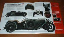 ★★ 1935 Frazer Nash Tt Replica Originale Imp Brochure Specifiche Info 35 32★★