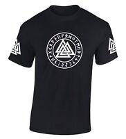 Valknut T Shirt Rune Thor Odin Valhalla Viking Pagan