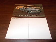 1964 Plymouth Valiant V200 Four-Door Sedan  Advertising Postcard