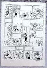 Hergé Tintin au Tibet Copie de Bleu d'imprimerie Planche 41 inédite A4 Superbe !