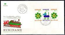 Suriname - 1973 Child welfare MS - Clean unaddressed FDC!