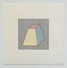 SOL LEWITT s/n screenprint TWELVE FORMS DERIVED FROM A CUBE (1984)