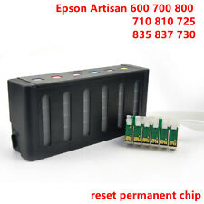 6colours ink cartridge refill ink CISS for Epson Artisan 600 700 835 730 725 710