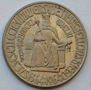 10 Zlotych 1964, Proba, 600th Anniversary of Jagiello University, Pattern Coin