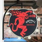 Fireball Whisky Hanging LED Sign - Double Sided Light - Burns Like Hell Whiskey