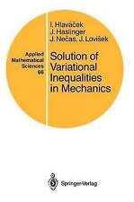 Solution of Variational Inequalities in Mechanics (Applied Mathematical Sciences