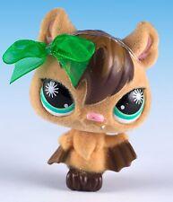 Littlest Pet Shop Vampire Bat #820 Brown With Aqua Green Eyes Fuzzy