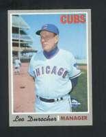 1970 Topps #291 Leo Durocher NM/NM+ Cubs MG 130668