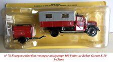  Pompiers n° 78 Fourgon motopompe 800 l/min sur Robur Garant K 30 1/43ème