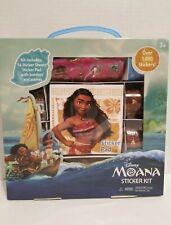 Disney Moana Sticker Kit 14 Sheets Over 1,000 Stickers + Pad New sealed