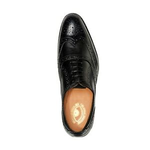 Mens Goodyear Welted Genuine Leather Shoes by Carlos Santana® Brogue