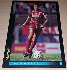 CARD GOLD 1993 CREMONESE VERDELLI CALCIO FOOTBALL SOCCER ALBUM
