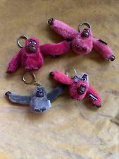 kipling monkey keyrings Bundle Of 4