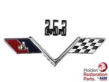 HOLDEN HT HG 253 / FLAGS FENDER BADGE BRAND NEW RARE SPARES BRISBANE QLD