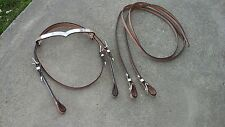 Light oil w/silver Western Show Browband headstall, reins, Tough 1 #18-803