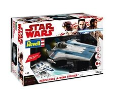 Star Wars VIII Build & Play Blue Resistance A-Wing Fighter Blue Plastic Kit 1:44