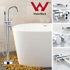 Bath tub Free Standing Round Shower Spout Faucet & Hand Held Mixer Tap Tall Rise