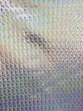 "White Pyramid Hologram 4 Way Stretch Metallic Spandex Fabric - BTY - 60"""