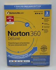 NORTON 360 DELUXE INTERNET SECURITY 2021 (3 DEVICE/1 YEAR) *NEW in RETAIL BOX