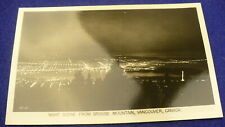 Grouse mountain Vancouver BC postcard aerial view night time Gowen Sutton #1296