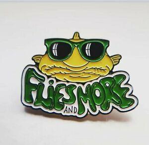 Flies And More Enamel Pin- Fly Fishing badge