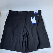 IZOD Men's Straight Fit Sports Flex Performance Golf Shorts. Size 38, Black NWT