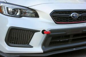 Perrin Red Front Tow Hooks Kit for 2018-2020 Subaru WRX STI